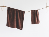 brown earth bath towel / hand towel / 2 piece set