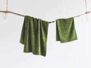 moss green bath towel / hand towel / 2 piece set