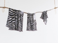 zebra bath towel / hand towel / wash towel / 3 piece set