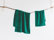 forest green bath towel / hand towel / 2 piece set