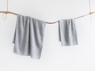mist gray bath towel / hand towel / 2 piece set