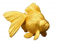 Pure gold goldfish ornament