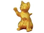 Pure gold cat ornament