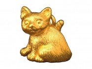 Pure gold kitten ornament