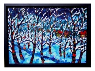 Oil picture / Snow day (Taro Otani painting/graphics)