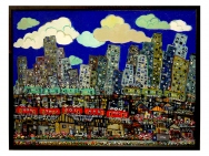 Oil picture / City (Taro Otani painting/graphics)
