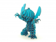61 pcs D-Torso  Cardboard Models - Stitch 095 Blue