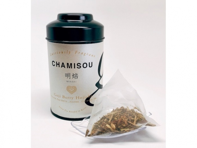 Minbai Goji Berry Roasted Green Tea Japanese Blend Tea