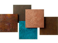 'Patinized' Copper Coasters