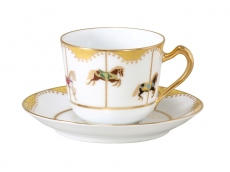 "Cup & Saucer ""UMAKU-IKU"" (Everything will turn out well)"