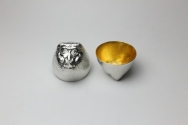 "[Monkey for 2016] ""Eto"" pure tin sake cup"